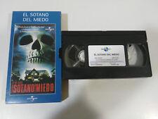 EL SOTANO DEL MIEDO WES CRAVEN ADAMS - HORROR TERROR VHS TAPE CASTELLANO PAL