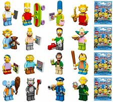 LEGO 71005 MINIFIGURE SIMPSONS Series COMPLETE SET of 16 figures w/ tracking