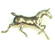 Horse Pin Gold over Sterling Silver Stamped B STER Jewelry Brooch