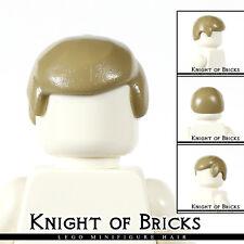 Lego Minifigure Hair DARK TAN 3901 Male Boy Cap Wigs Business Wig