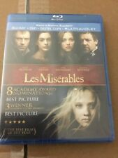 LES MISERABLES 2012 BLU RAY, FACTORY SEALED