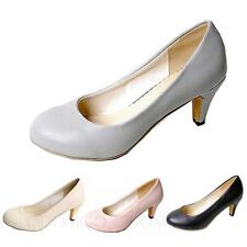 Mid heel Shoes Bridal Classic high heel Cute Casual Size 4 5 6 7 8 9 10 11 12 13