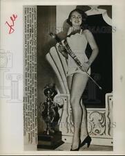 1953 Press Photo Myrna Hansen Miss Illinois chosen Miss US for Miss Universe