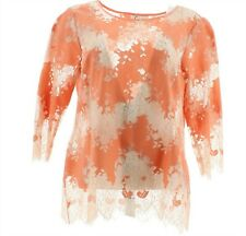 Linea Louis Dell'Olio Inset Lace Top Antique Rose 20W NEW A351465