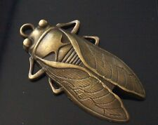 1 Extra Large Antique Bronze Insecte Cigale Charme Pendentif 61 mm TSC02