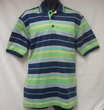 PAUL & SHARK Made Italy Polo Shirt Men's XL 100% Cotton Multicolor Stripes