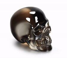 "Superior Quality 1.5"" DARK SMOKEY/SMOKY QUARTZ Carved Crystal Skull #S743"