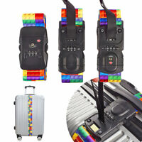 Digital Scale Travel Luggage Bag Straps Approved Lock Polyester Suitcase Belt