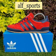 ❤ BNWB & Authentic adidas originals ® Jeans Mk2 Red & Navy Trainers in UK Size 8