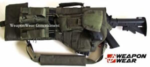 BugOut Tactical Rifle Scabbard Gun Case Pistol & Mag Pouch Included OD Green