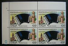 1989 Italie industrie du quatrain della Accordéon 450 livres MNh