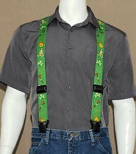 SureKlip Suspenders, Heavy Duty Composite Clips, HOLIDAY Prints, TSA FRIENDLY