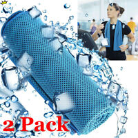 2 Pack Cooling Towel Ice Towel Neck Wrap For Sports Running Jogging Gym Chilly