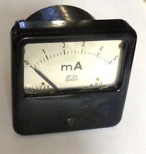Milliampèremètre vintage bakélite CdC 0-5 mA DC 60 mm x 60 mm