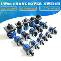 Umschalter LW26 2/3 Position 4-12 Terminals 220/380V Nockenschalter Drehschalter