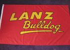 Fahne LANZ BULLDOG 1,5 x 0,9 m 2 Ösen Flagge Traktor Trecker Schrift NEU # F320