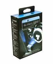 Quad Micro Dash Blue LED Lights 12V set of 4