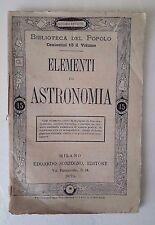 D27> Elementi di Astronomia - Edoardo Sonzogno Editore anno 1875