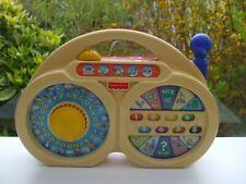 VINTAGE TABLEAU EVEIL ACTIVITE FORME RADIO TRANSISTOR MUSICAL FISHER PRICE 1997