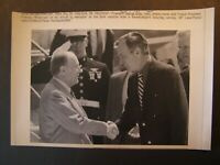 AP Wire Press Photo Pres Bush shakes hands w/ French Pres Francois Mitterrand