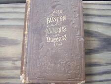 Boston Almanac & Business Directory 1883 Vol 48 calendars directories