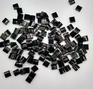 120pc Miyuki TILA Opaque Black 5mm Square w/ (2) 0.8mm Holes; LAST ONE CLEARANCE
