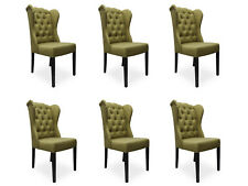 6x Design Polster Sitz Stühle Stuhl Seht Garnitur Sessel Lounge Club Set Jack