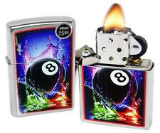 Zippo 29295 Mazzi 8 Eight Ball Brushed Chrome Finish Windproof Pocket Lighter