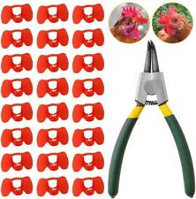 New listing 101 Pieces Pinless Peepers with Pliers Set Poultry Blinders Chicken Spectacles