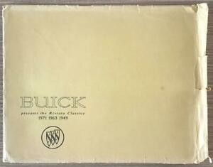 BUICK USA Large Format RIVIERA CLASSICS CAR PRINTS 1949 1963 1971