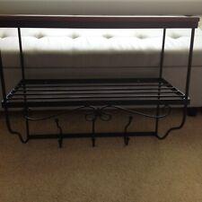 New listing * Longaberger * Wrought Iron (Foyer Wall Unit) + WoodCrafts Shelf