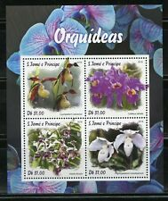 SAO TOME 2019  ORCHIDS  SHEET MINT NH