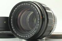 【Rare N.MINT-】Konica Konishiroku Hexanon 100mm f/2.8 Lens, Hood from JAPAN #g14