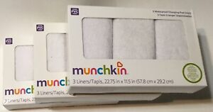 Munchkin Waterproof Baby Diaper Changing Pad Liners for Cribs Nursery Bassinets
