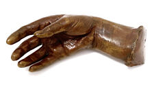 Life-Cast Momento Mori Bronze Female Hand 19th Century.