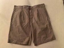 Brooklyn Calling sz 32 khaki shorts cotton NWOT pleat front, flat back, pockets