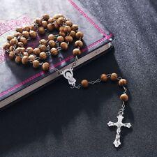 First Holy Communion ROSARY BEADS WOODEN  Boys Girls Men LOVELY WOOD GIFT + BAG
