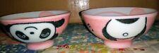 Small Japanese Pink Panda Children's Rice Bowls.