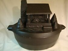 JOHN WRIGHT CAST IRON WOOD STOVE TOP HUMIDIFIER STEAM-POT POTPOURRI VAPORIZER