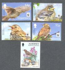 Guernsey-Meadow Pipit-mnh-set  + Alderney single