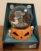 Nightmare Before Christmas Jack Zero Musical Snow Motion Water Globe Pumpkin