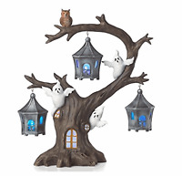 Lenox Halloween A Ghostly Ghoulish Halloween Lighted Tree with Ghosts and Owl