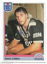 1992 NSW Rugby League REGINA Base Card (6) Jason LIDDEN Western Suburbs