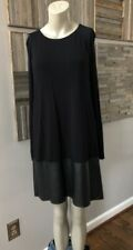 Bailey 44 Lorax Faux Leather Long Sleeve Dress Black Size Large