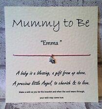 Mummy / Parents to be Tibetan Charm Wish Bracelet Friendship String & Card gift
