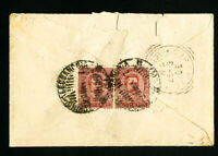 Italy Stamps Torino Cover Alessandria Cancel 1897 Pair of Stamps on Reverse