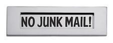 No Junk Mail Self Adhesive Vinyl Letter Box Sticker, Decal Post box sign