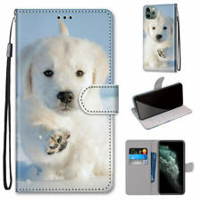 Snowfield Dog Cute Animal Hot Flip Wallet Bracket Case Cover For Various Phones