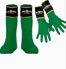 Power Rangers Mystic Force Green Ranger Boots Covers & Gloves Child costume New