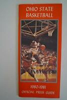 Vintage Basketball Media Press Guide Ohio State University 1980 1981